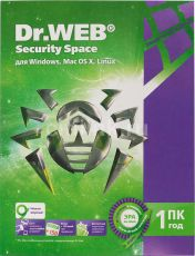 Антивирус Dr.Web Security Space 1 ПК/1 год (BHW-B-12M-1-A3)